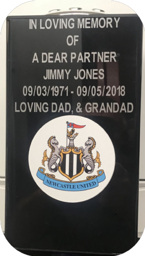 Newcastle F. C. Square grave flower pot